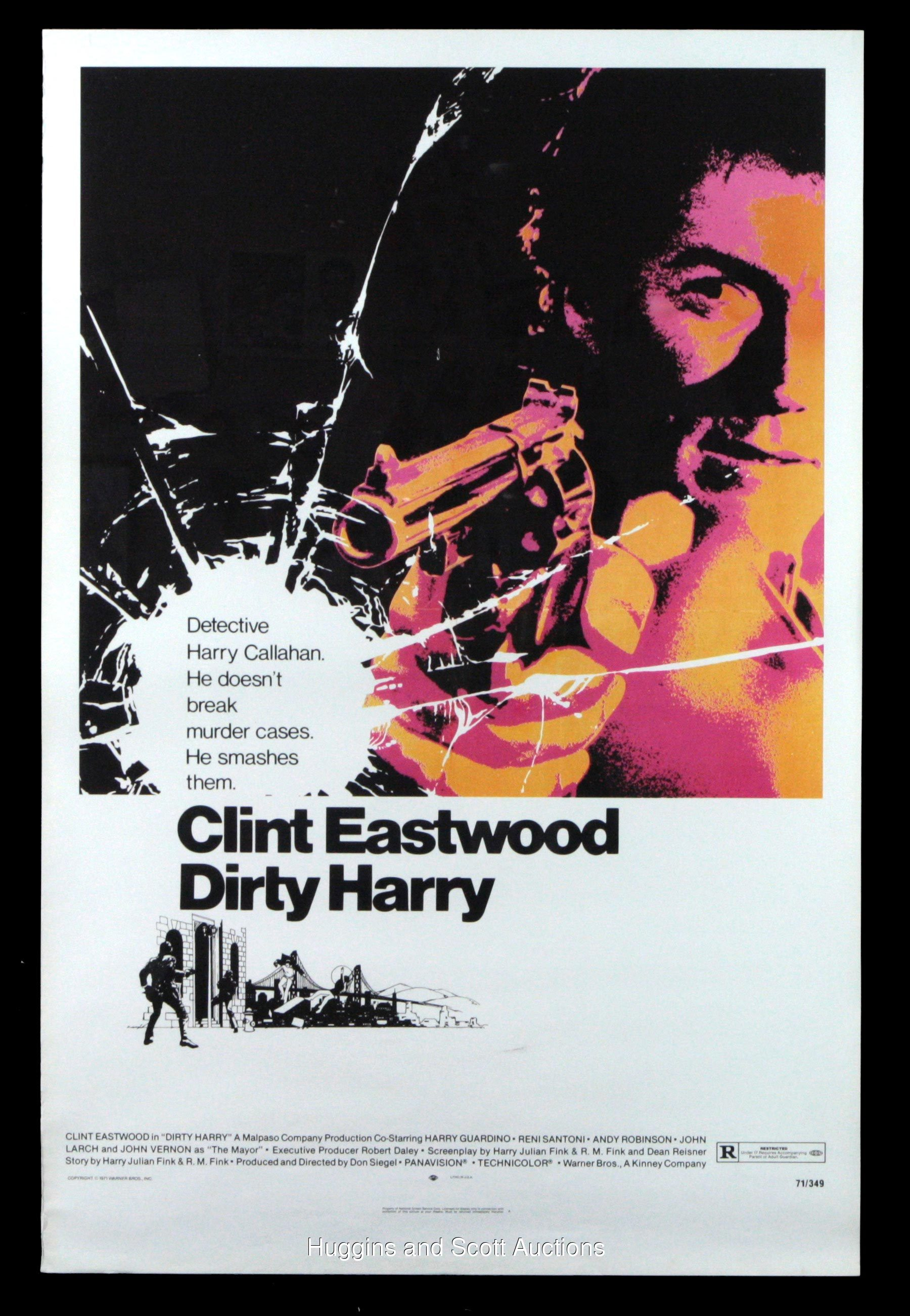 clint eastwood quotdirty harryquot theatre display collection of