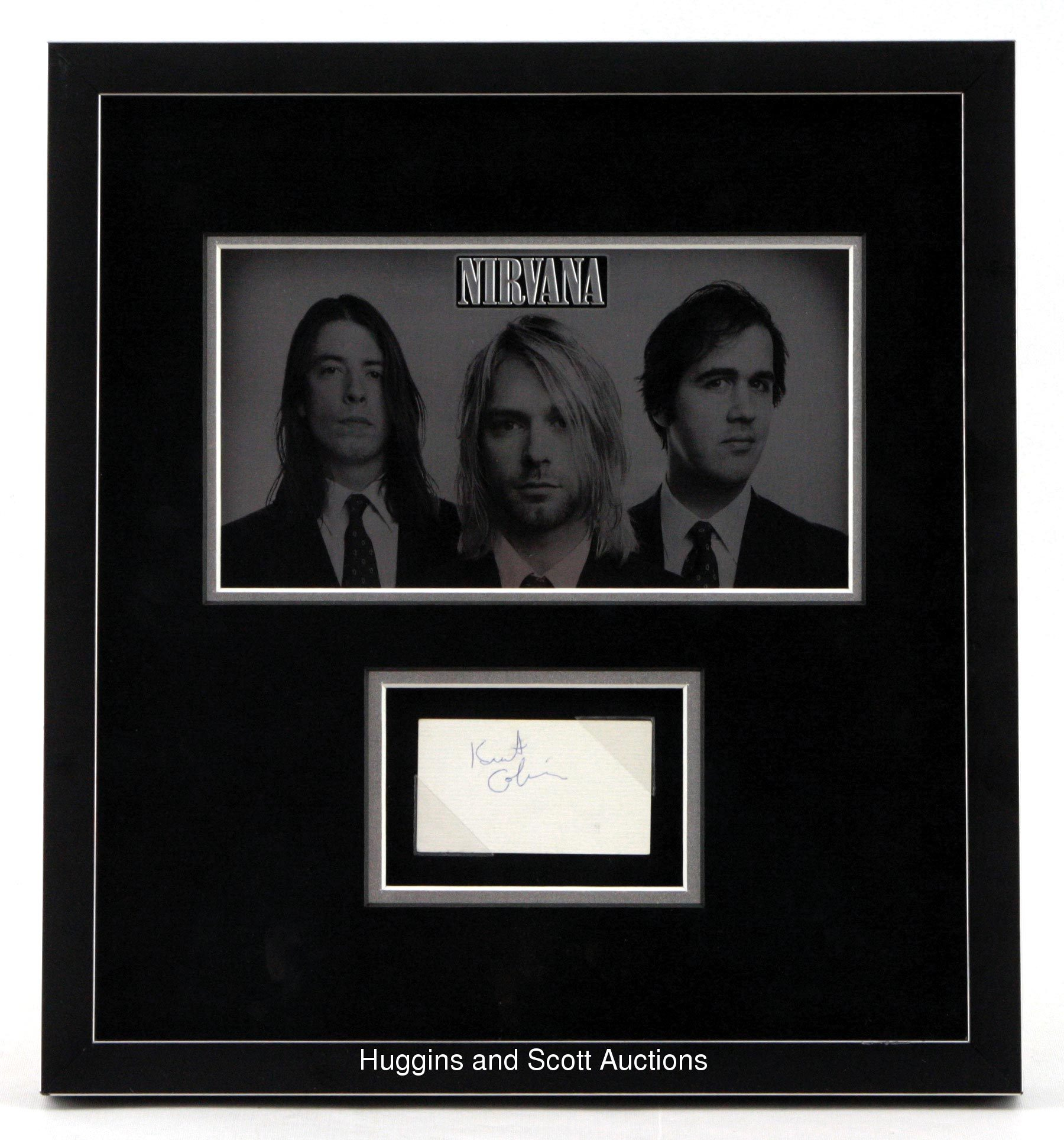 Kurt Cobain Autographed Business Card Framed & Matted in Museum ...