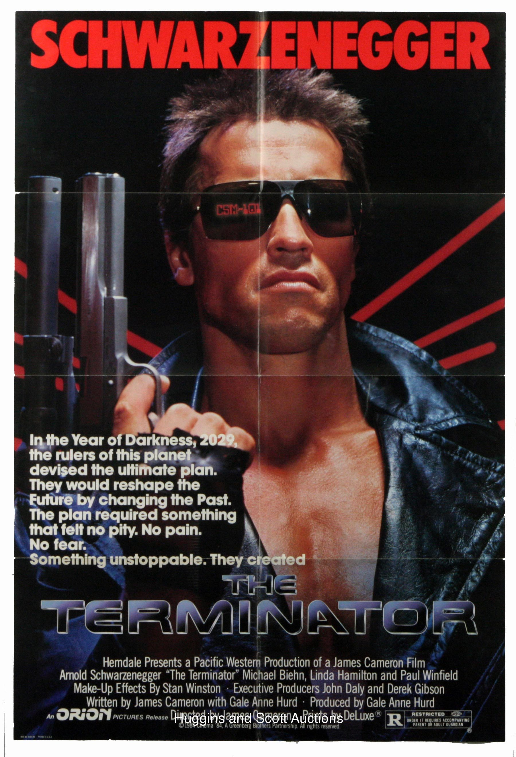 "(5) 1980s US 1 Sheet Movie Posters With ""Terminator"" and ..."